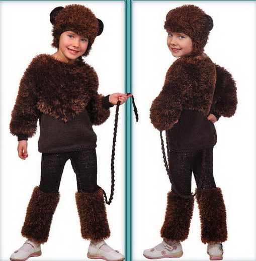 Новогодний костюм обезьянки своими руками фото