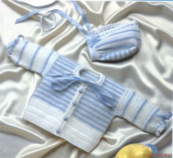 Кофточка для новорожденного спицами: со схемами, как связать, для.