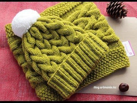Объемные стили вязания спицами