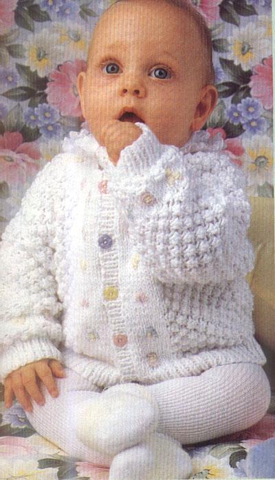 Вязание кофточки для новорожденного спицами описание и 2