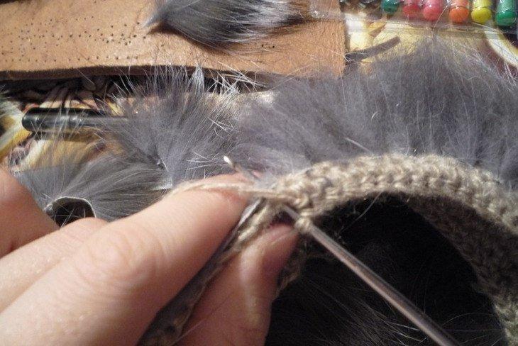 Вязание из меха своими руками мастер класс